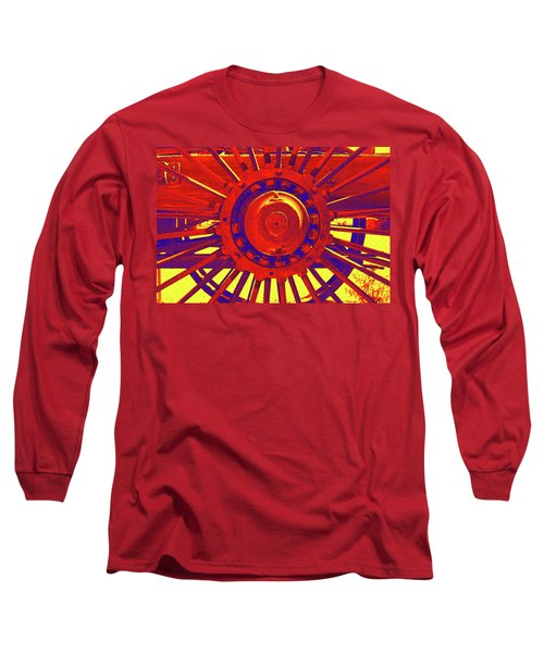 Wagon Wheel Long Sleeve T-Shirt by Cynthia Powell