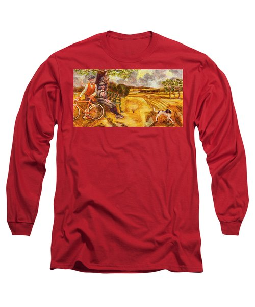 Walking The Dog After Gainsborough Long Sleeve T-Shirt by Mark Jones