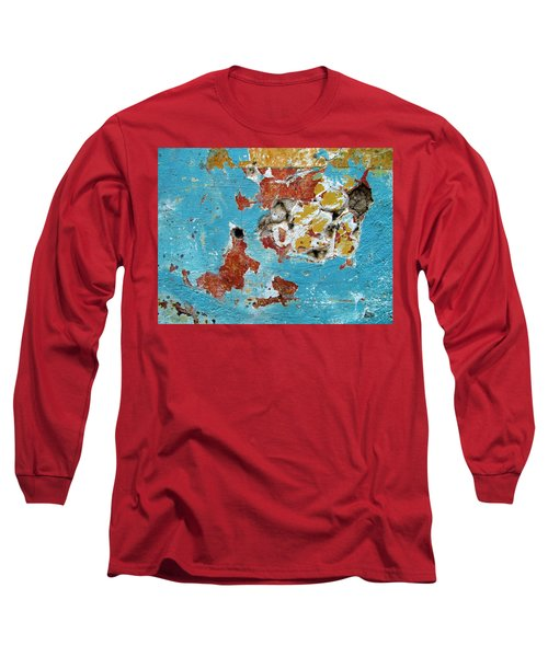 Wall Abstract 99 Long Sleeve T-Shirt by Maria Huntley