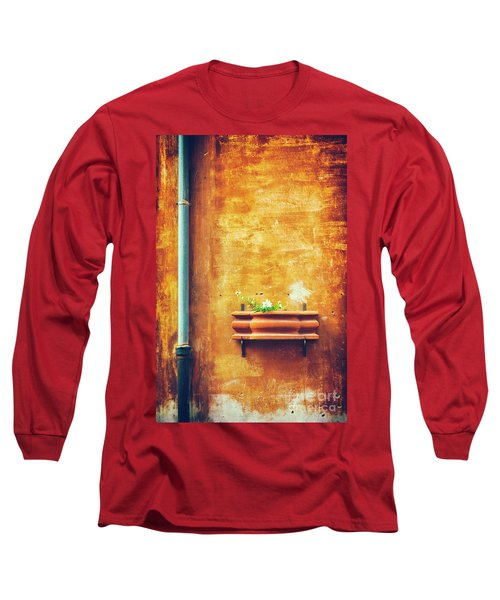 Long Sleeve T-Shirt featuring the photograph Wall Gutter Vase by Silvia Ganora
