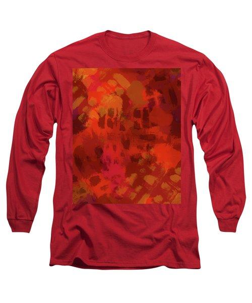 Warm Abstract 1 Long Sleeve T-Shirt