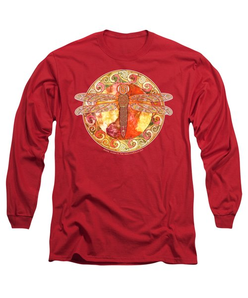 Warm Celtic Dragonfly Long Sleeve T-Shirt