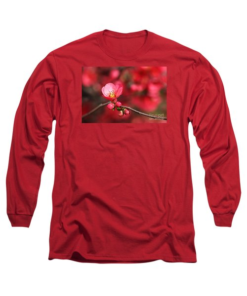 Warmth Of Flowering Quince Long Sleeve T-Shirt