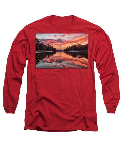 Washington Monument Sunrise Long Sleeve T-Shirt