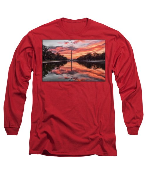 Washington Monument Sunrise Long Sleeve T-Shirt