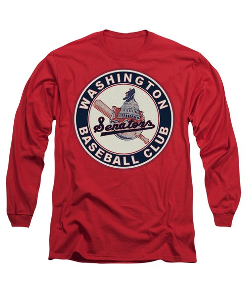 Washington Senators Retro Logo Long Sleeve T-Shirt