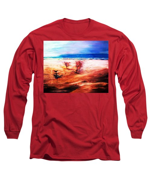Long Sleeve T-Shirt featuring the painting Water And Earth by Winsome Gunning