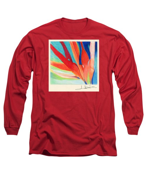 Water Grass Blue Long Sleeve T-Shirt