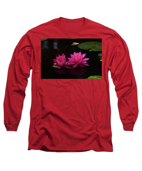 Water Lily Long Sleeve T-Shirt by Nancy Landry