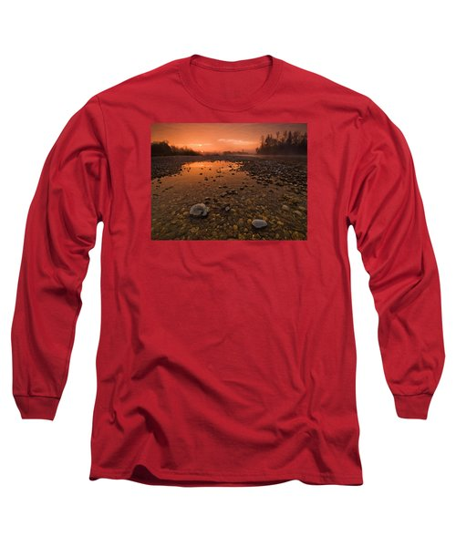 Water On Mars Long Sleeve T-Shirt by Davorin Mance