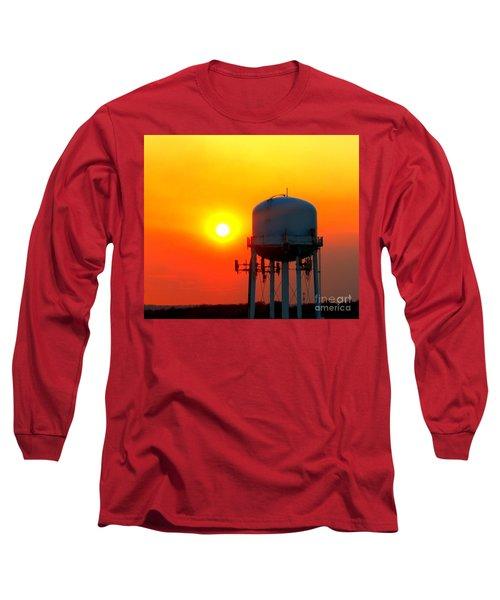 Water Tower Sunset Long Sleeve T-Shirt