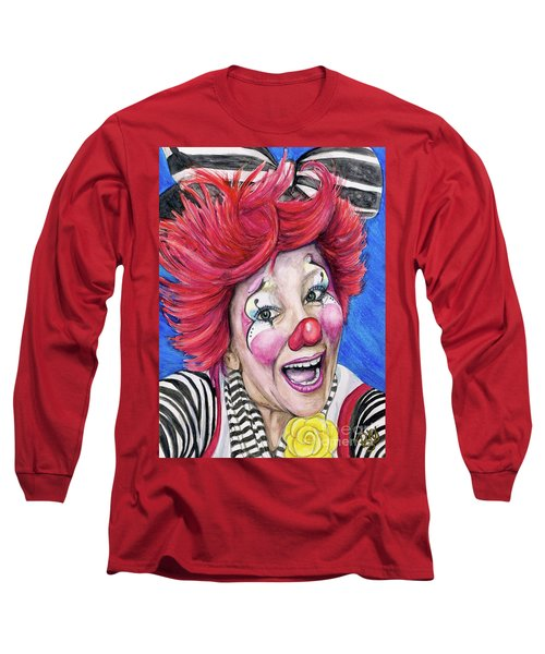 Watercolor Clown #24 Kelly Lynn Diehl Long Sleeve T-Shirt