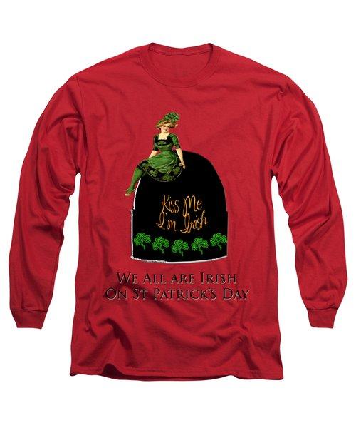 We All Irish This Beautiful Day Long Sleeve T-Shirt by Asok Mukhopadhyay