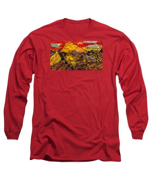 Long Sleeve T-Shirt featuring the painting Western Hills 4 by Don Koester