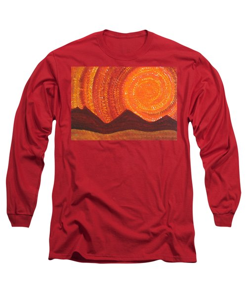 Western Sky Wave Original Painting Long Sleeve T-Shirt