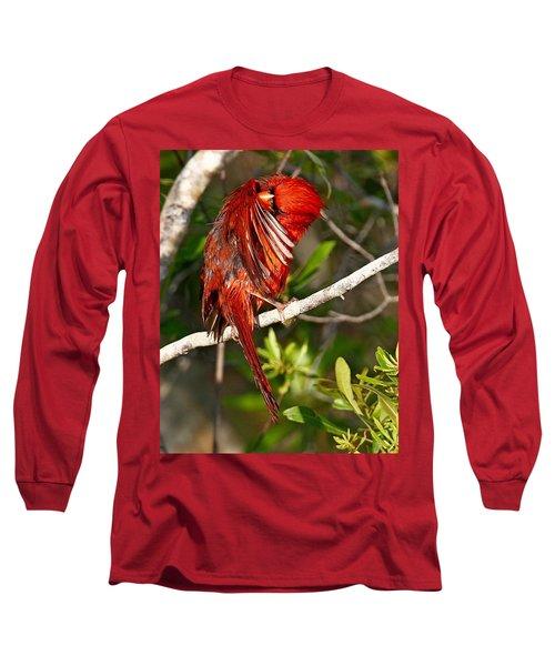 Wet Cardinal Long Sleeve T-Shirt