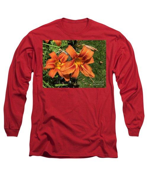 Wet Tiger Llilies Long Sleeve T-Shirt