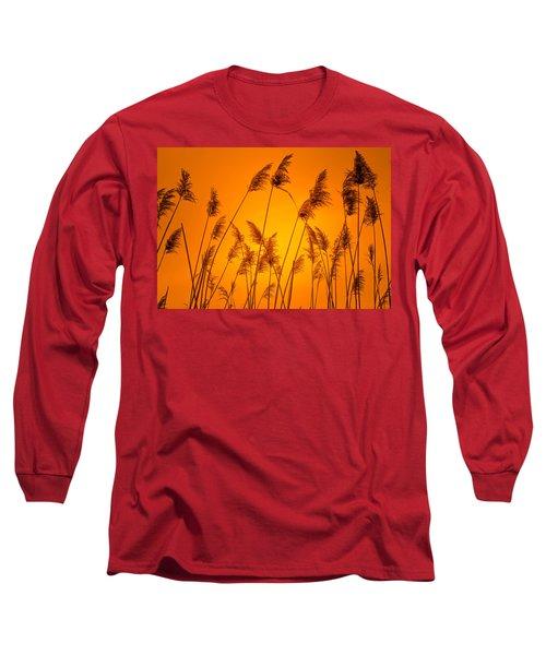 Wetland Sunset Long Sleeve T-Shirt