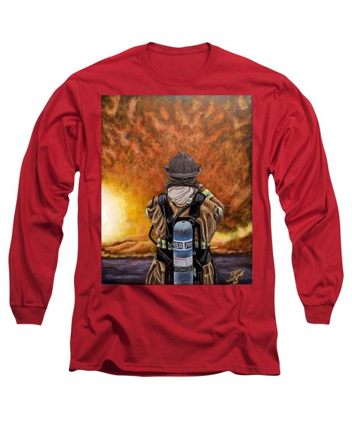 Long Sleeve T-Shirt featuring the painting When Hell Comes To Visit by Dan Wagner