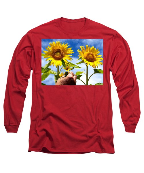 Long Sleeve T-Shirt featuring the photograph when I grow up by Trena Mara
