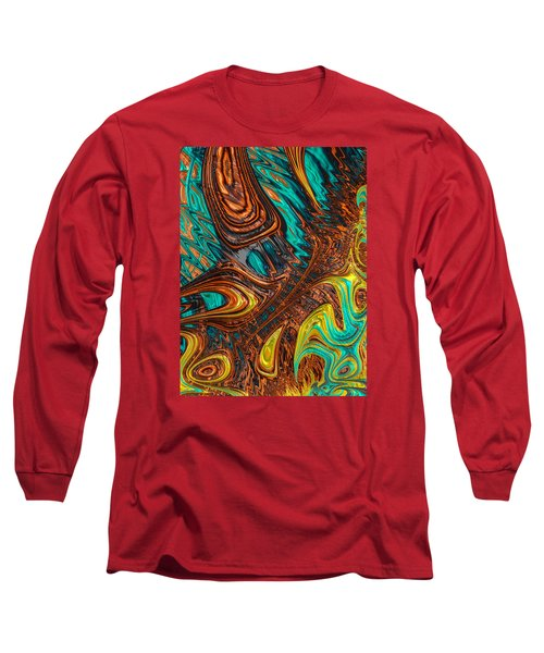 Long Sleeve T-Shirt featuring the photograph Where Liquid Copper And Water Meet by Ronda Broatch