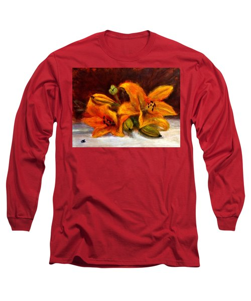 Long Sleeve T-Shirt featuring the painting Whispers Of Love..2 by Cristina Mihailescu