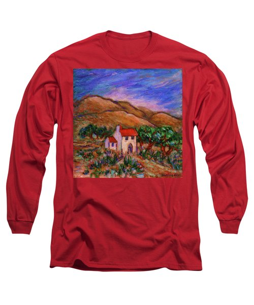 Long Sleeve T-Shirt featuring the painting White House In An Oak Grove by Xueling Zou