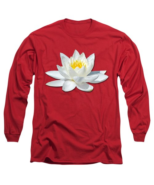 White Lily 2 Long Sleeve T-Shirt by Bob Slitzan