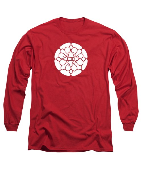 white lines on transparent background - detail - 7.10.USA-3-detail-b Long Sleeve T-Shirt