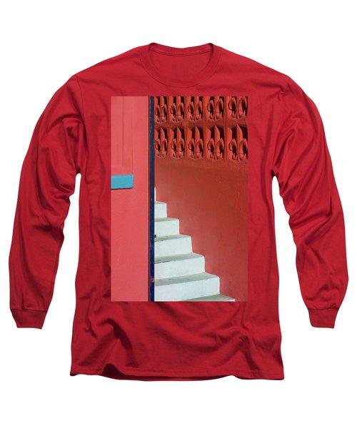 White Staircase Venice Beach California Long Sleeve T-Shirt