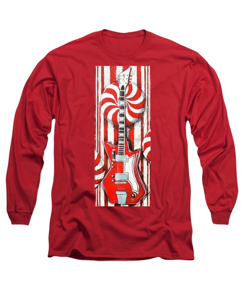 White Stripes Guitar Long Sleeve T-Shirt