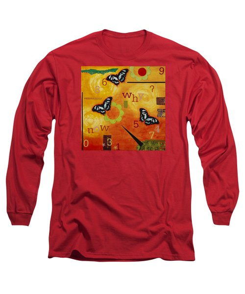 Long Sleeve T-Shirt featuring the mixed media Why by Gloria Rothrock