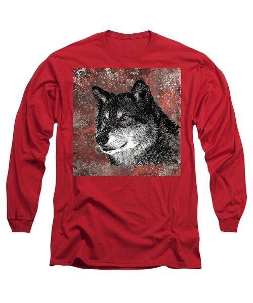 Wild Dark Wolf Long Sleeve T-Shirt