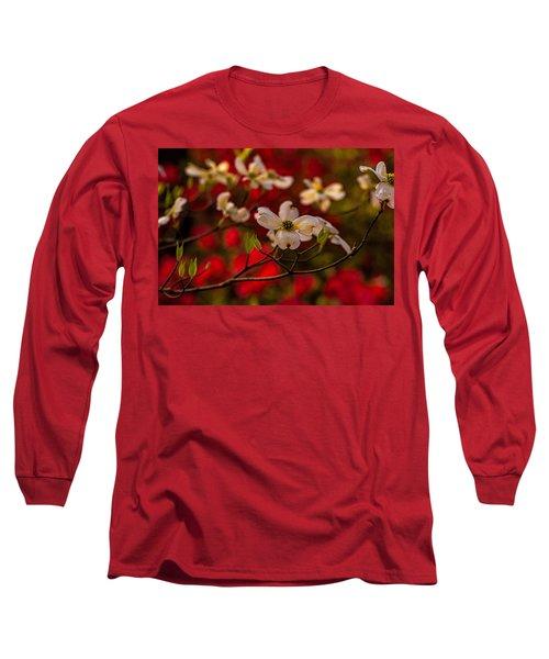 Wild Dogwood And Red Azaleas Long Sleeve T-Shirt