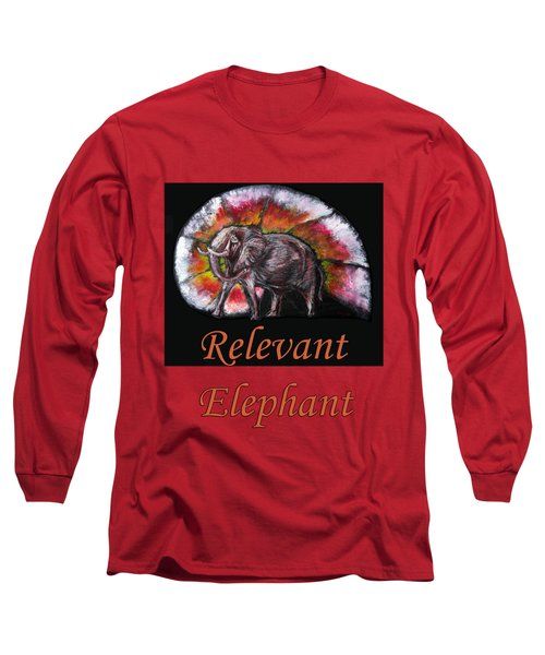 Wild Elephant Long Sleeve T-Shirt by Tom Conway