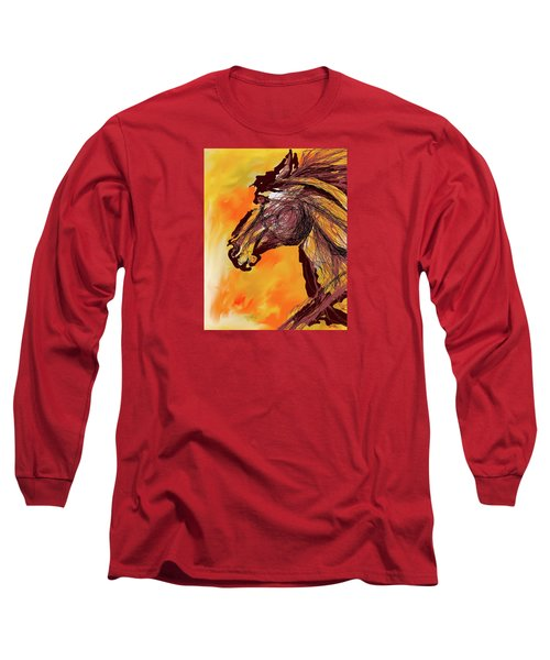 Wild One Long Sleeve T-Shirt by Mary Armstrong