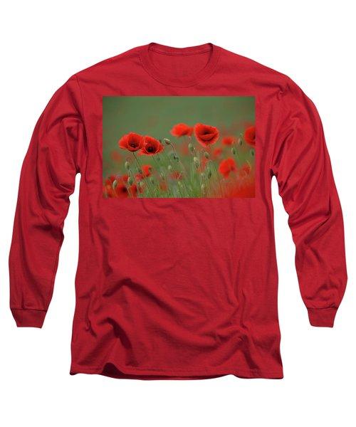 Wild Poppies Long Sleeve T-Shirt