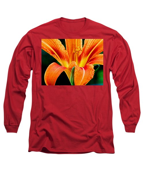 Wild Tiger Lily Long Sleeve T-Shirt