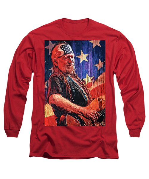 Willie Nelson Long Sleeve T-Shirt