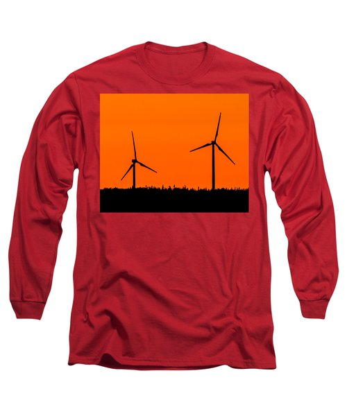Wind Silhouette Long Sleeve T-Shirt