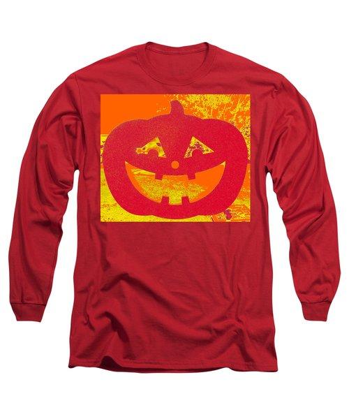 Window Pumpkin #4 Long Sleeve T-Shirt