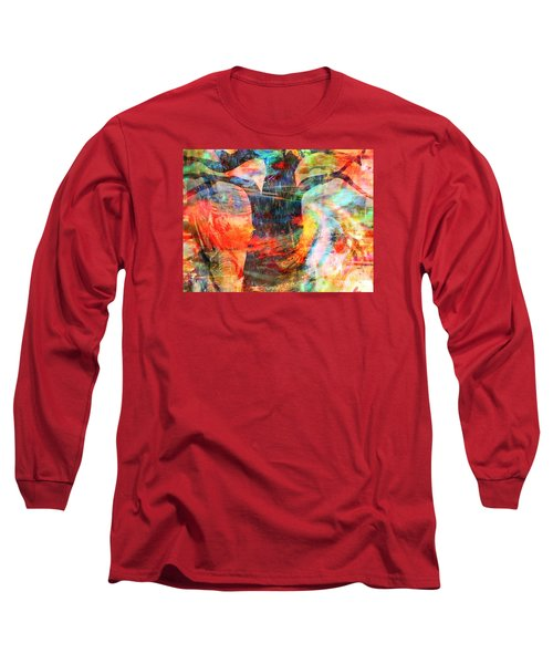 Long Sleeve T-Shirt featuring the painting Windy Moments by Fania Simon