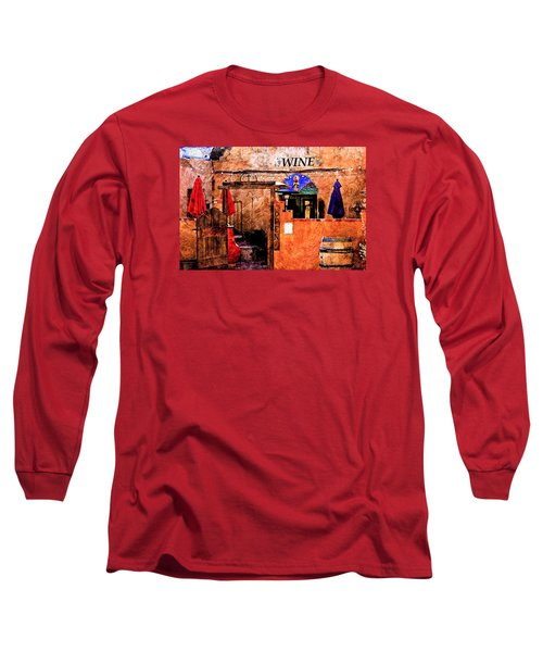 Long Sleeve T-Shirt featuring the photograph Wine Bar Of The Southwest by Barbara Chichester