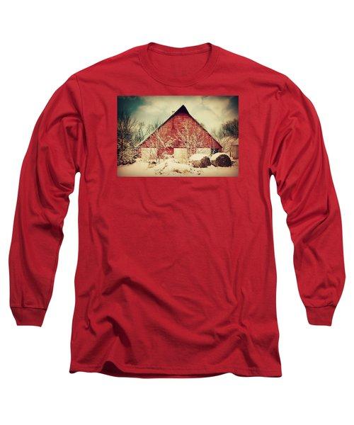 Winter Day On The Farm Long Sleeve T-Shirt