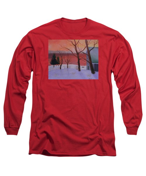 Winter Ocean Sunrise Long Sleeve T-Shirt