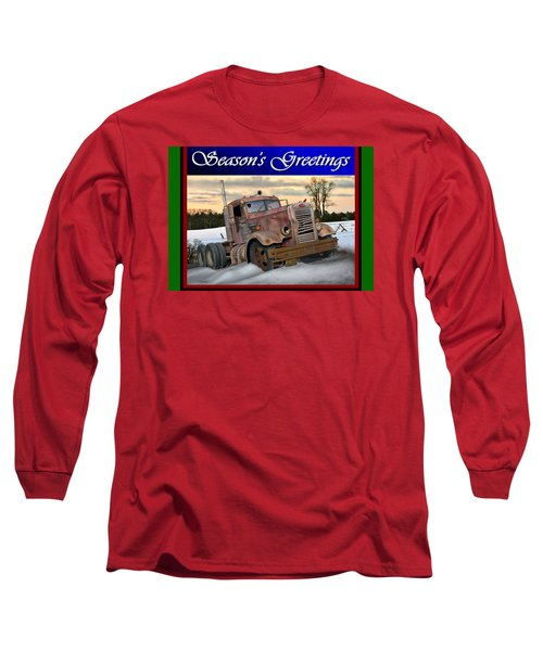 Winter Pete Season's Greetings Long Sleeve T-Shirt by Stuart Swartz