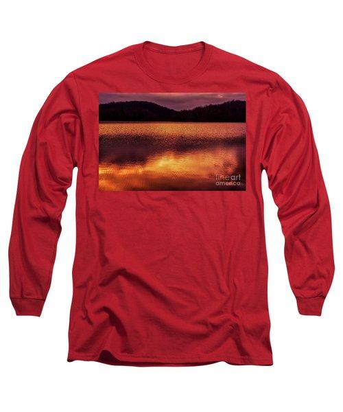 Winter Sunset Afterglow Reflection Long Sleeve T-Shirt