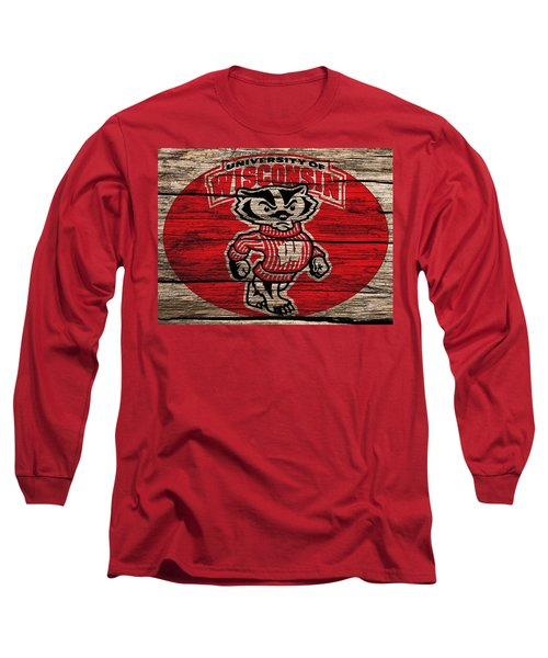Wisconsin Badgers Barn Door Long Sleeve T-Shirt