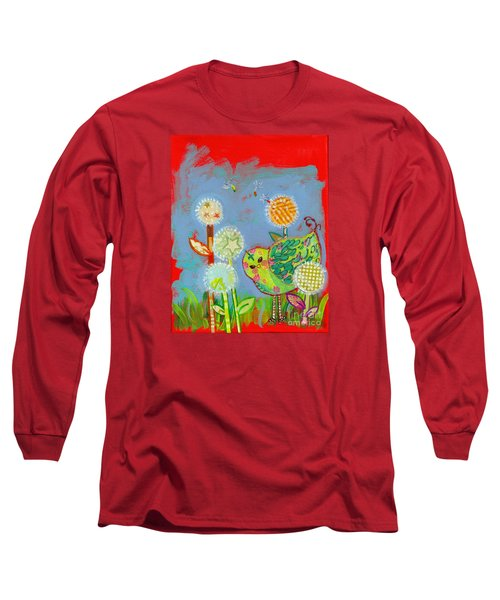 Wishful Thinking Birdy Long Sleeve T-Shirt by Shelley Overton