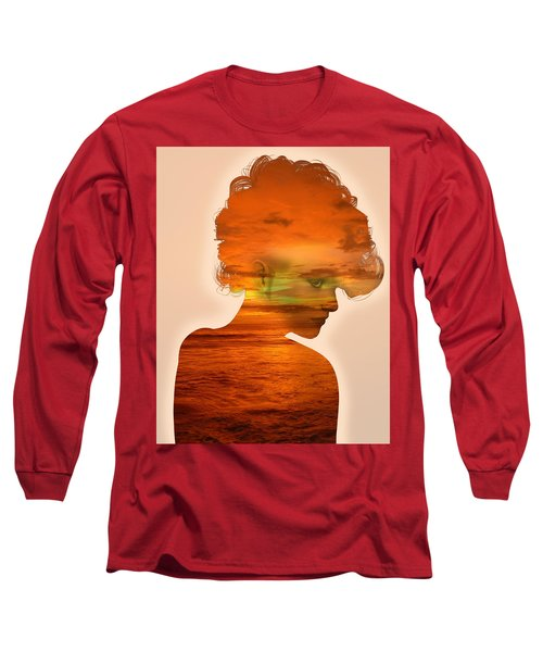 Woman And A Sunset Long Sleeve T-Shirt